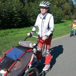 Brusle - Klárka sama na kole